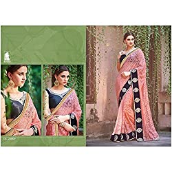 Sahiba Women's Georgette SAREE with Fancy Fabrics (SS_21_Pack of 4_Large)