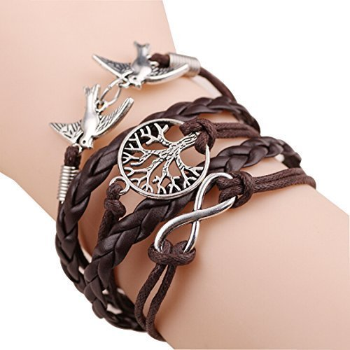 bz-la-vie-vintage-damen-armband-infinity-vogel-geflochten-baum-braun