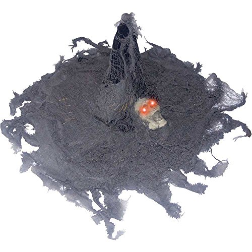 Tattered Witch Hat with Light-Up Skull - One Size