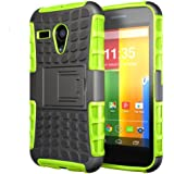 Hyperion Motorola Google Moto G (Gen1) Phone Explorer Hybrid Protective Case/Cover (Compatible with All Moto G Models) **Hyperion Retail Packaging** [2 Year Warranty] (EXPLORER, GREEN)