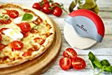 Pizza Cutter Wheel, Stainless Steel with Integrated Blade Guard in Blue, Lime and Red From Mozzbi