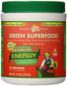 Amazing Grass Energy Watermelon Green Superfood, 7.4 Ounce