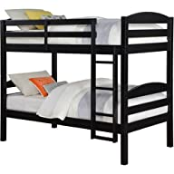 Solid Wood Twin Bunk Bed – Twin Over…