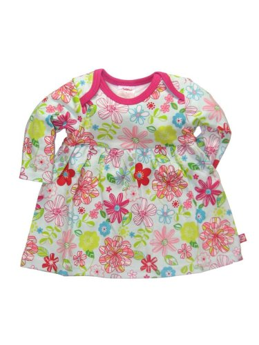 Itzy Bitzy Flower Show Long Sleeve Dress by Zutano - Buy Itzy Bitzy Flower Show Long Sleeve Dress by Zutano - Purchase Itzy Bitzy Flower Show Long Sleeve Dress by Zutano (Zutano, Zutano Apparel, Zutano Toddler Girls Apparel, Apparel, Departments, Kids & Baby, Infants & Toddlers, Girls, Skirts, Dresses & Jumpers, Dresses)