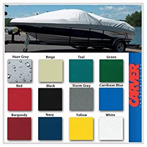 Carver 24' Pontoon Boat Cover with Fully Enclosed Deck & Bimini TopPoly Guard - 77524P