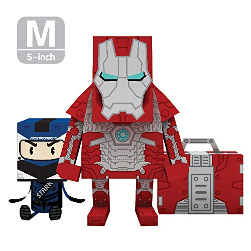 momot paper craft toy marvel iron man mark 5 5 inch m size 13cm