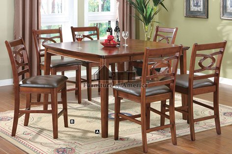 Buy low price h m shop 6 pc counter height dining table for Unique shaped dining tables