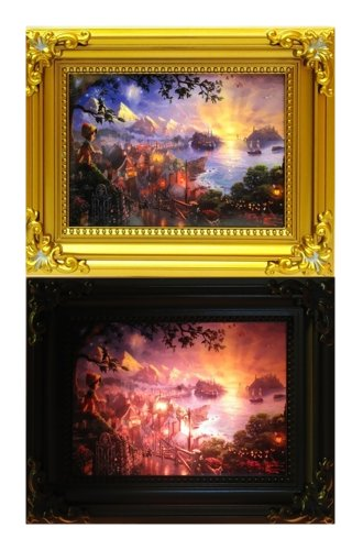 Iwgac Hallway Bathroom Bedroom Decorative Thomas Kinkade Pinocchio Nightlight front-682054