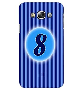 PrintDhaba Numerology Number 8 D-2563 Back Case Cover for SAMSUNG GALAXY A7 (Multi-Coloured)