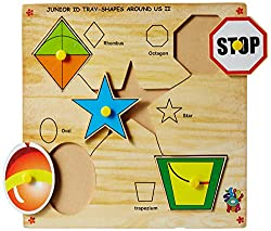 Skillofun Junior Identification Tray Shapes Around Us II with Knobs, Multi Color