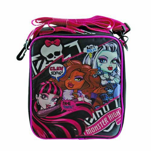 Monster High Large Messager Backpack with Lunch Bag - 1