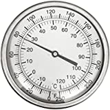 """CNS 5"""" Dial Thermometer 1/2"""" NPT 316 Stainless Steel"""