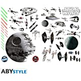 ABYstyle - ABYDCO058 - Star Wars - Loisir Créatif - Planche de Stickers Muraux Bataille Spéciale (A Plat)