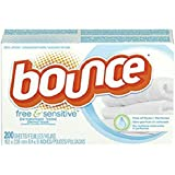 Bounce Fabric Softener Sheets, Free & Sensitive, 200 sheets