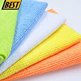 Best Microfiber Cleaning Cloth Set (HUGE 50 PACK - GET 2X More!) Micro Fiber Towels & Rags are Perfect for Auto Detailing, Car Polishing, Dish Drying & Washing - Scratch Resistant Fabric Material