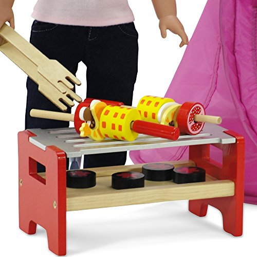 18-inch-Doll-Furniture-Camping-Barbecue-BBQ-Grilling-Set-Hand-painted-Wooden-Pieces-Fits-American-Girl-Dolls
