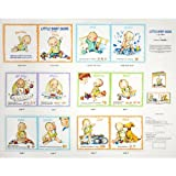 51vBCW3XZxL. SL160  Little Baby Signs 36 Book Panel White Fabric