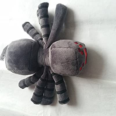 "6"" Minecraft Soft Toy Spider Grey by FUNSHOWCASE"
