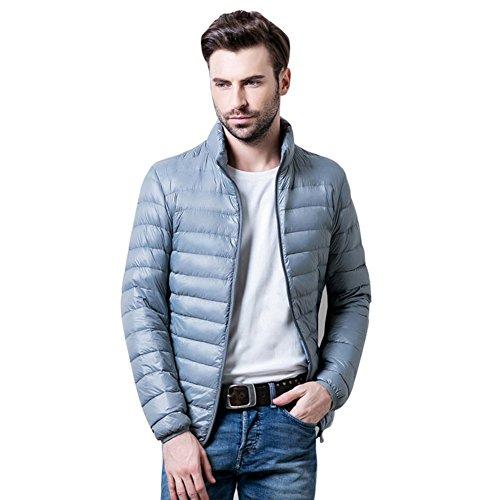 Botetrade Herren Marke im Freien 90% Ente Daunenjacken Parka Sport Jacket Silver Grey L