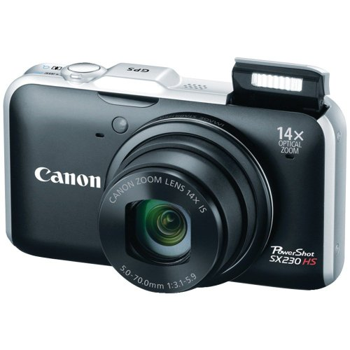 Canon PowerShot SX230 HS 12.1 MP CMOS Digital Camera with 14x Image Stabilized Zoom 28mm Wide-Angle Lens and 1080p Full-HD Video (Black)
