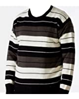 Mens Knitted Crew Neck Sweater/ Jumper (Striped)
