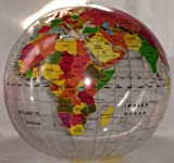 Inflatable World Globe Clear Inflate Earth Teacher aid Learning & Development