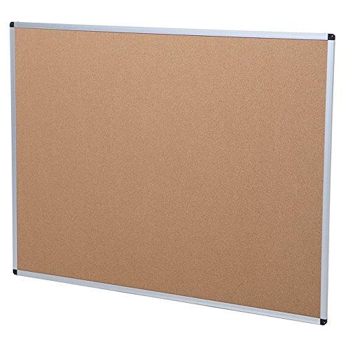 VIZ-PRO Cork Notice Board, 48 X 36 Inches, Silver Aluminium Frame