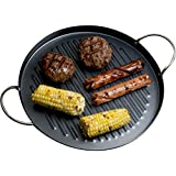 Evelots Non-Stick Smokeless Indoor Stovetop Barbecue Grill Pan, Black