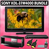 Sony Bravia M-Series KDL-37M4000 37in. 720P LCD HDTV + Sony DVD Player w/ TV Stand Accessory Kit