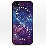 K9Q Retro Hakuna Matata Pattern Hard Shell Case Cover Back Skin Protector For Apple iPhone 4 4S Style C