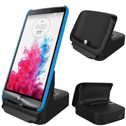 Rnd Dock And 2Nd Battery Charger For Lg G3 (Compatible Without Or With A Slim-Fit Case) (Black)