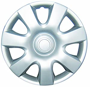 "White Knight WK-944C, Toyota Camry, 15"" Silver/Lacquer Plastic Wheel Cover, Set of 4"