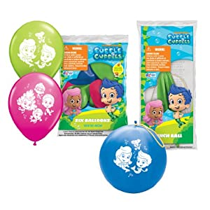 Pioneer National Latex Bubble Guppies Party Pack, (6 Balloons/4 Punch Balls)