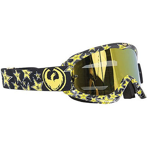 Dragon Alliance Rockstar Energy Drink Adult MDX-G MotoX Motorcycle Goggles Eyewear - Color: Gold Ionized AFT