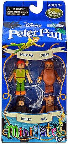 Disney Peter Pan Minimates Exclusive Mini Figure 4-Pack Peter Pan, Cubby, Tootles & Nibs (Peter Pan Figurine Set compare prices)