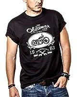 T-Shirt Motard Homme Noir MOTO T120 CHOPPER Taille S-XXXL