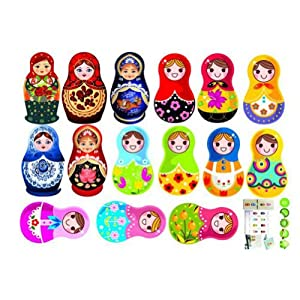 russian doll wall stickers home decor decals art childrens