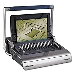 Fellowes - FEL5218201 - Galaxy Comb Binding System, 500 Sheets, 20-7/8w x 17-3/4d x 6-1/2h, Gray