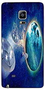 Snoogg Aliens Spacecrafts Designer Protective Back Case Cover For Samsung Gal...