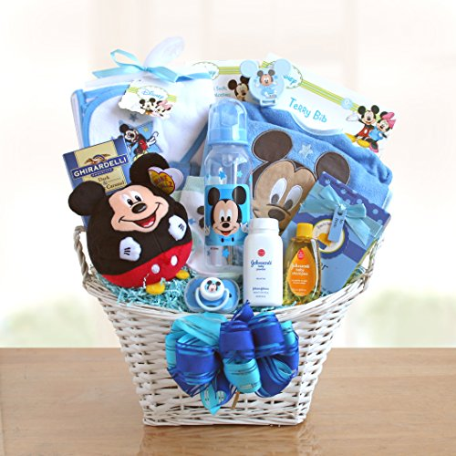 Mickey Mouse Baby Boy Basket front-59284