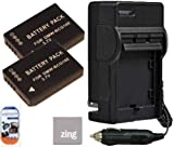 Panasonic Lumix DMC-ZS15 DMC-ZS19 DMC-ZS20 DMC-ZS25 Digital Camera Battery & AC/DC Battery Charger Kit Includes Qty 2 DMW-BCG10 Batteries + Battery Charger + LCD Screen Protectors + Micro Fiber Cleaning Cloth