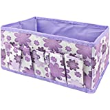 TOOGOO(R) Newest Makeup Cosmetic Storage Box Bag Bright Organiser Foldable Makeup Stationary Container (Purple)