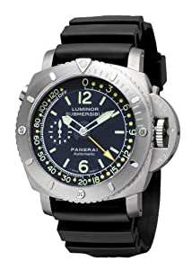 Panerai Men's PAM00307 Luminor 1950 Pangea Submersible Depth Gauge Blue Dial Watch from Panerai
