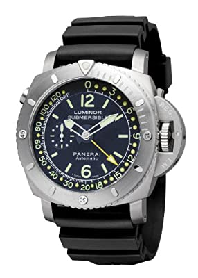 Panerai Men's PAM00307 Luminor 1950 Pangea Submersible Depth Gauge Blue Dial Watch