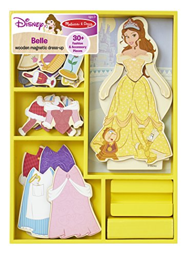 Belle Wooden Magnetic Dress-Up Play Set