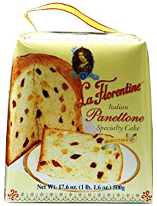 La Florentine Panettone, Italian Specialty Cake, 17.6-Ounce Boxes (Pack of 3)