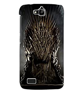 ColourCraft Sword Throne Design Back Case Cover for HUAWEI HONOR HOLLY