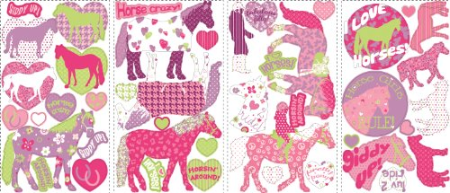 RoomMates RMK1663SCS Horse Crazy Peel & Stick Wall Decals