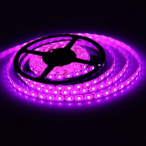 XKTTSUEERCRR 5M 16.4ft 5050 Green Waterproof 300 LED LEDs SMD Flexible LED Flash Lighting Lamp Strip Light Purple image