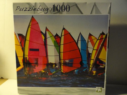 Puzzlebug 1000 Piece Jigsaw Puzzle - Colorful Windsurfing
